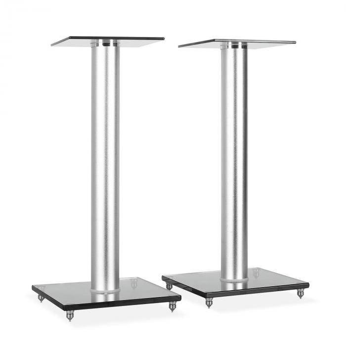 Electronic-Star Dos soportes de vidrio para altavoz. 58 cm de altura (LUA-BS58)