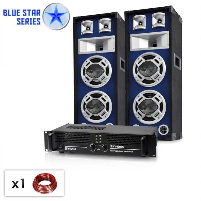 "Electronic-Star Set PA Blue Star Series ""Bassboom"" 1600 Watt (BS-Bassboom)"