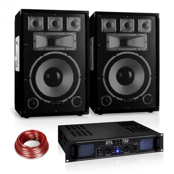 "Electronic-Star ""Warm Up Party"" 12PLUS Set PA serie Saphir (PL-10876-1182-2629)"