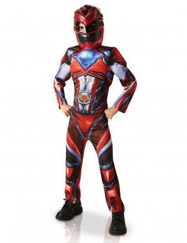 Disfraz lujo Power Rangers rojo niño - Pelicula 5 a 6 años (105 a 116 cm)