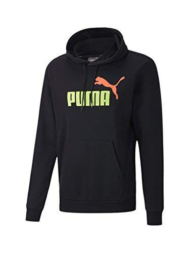 Puma ESS 2 Col Hoody FL Big Logo Sudadera con Capucha, Hombre, Negro, XL