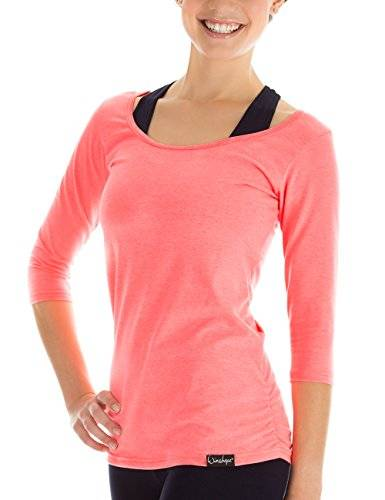 WinshapeBolsa de Mujer Fitness Yoga Pilates WS43/4Camiseta Pulsera, Mujer, Color Coral neón, tamaño Extra-Small
