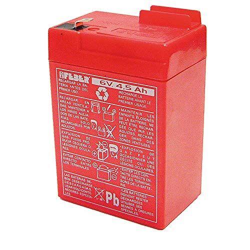 FEBER  - Recambio de Batera para Coches y motos de batera para nios, 6V, 4,5Ah (Famosa 800003104)