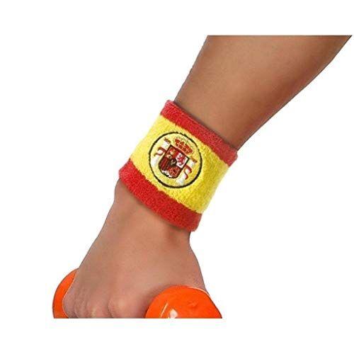 Atosa-22194 Atosa-22194-Muñequera Con Escudo España 8X8 cm-Mundial De Fútbol Y Deportes, color rojo y amarillo (22194)