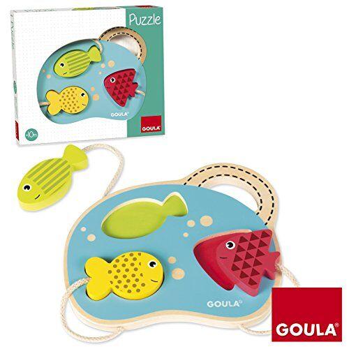 Goula - Puzzle con mar, juguete para bebé, color azul, rojo y amarillo (Diset 53451) , color/modelo surtido