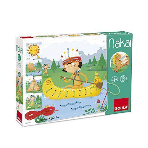 Goula - Nakai, Juguete para bebé, Color Azul, Rojo y Amarillo (Diset 53139)