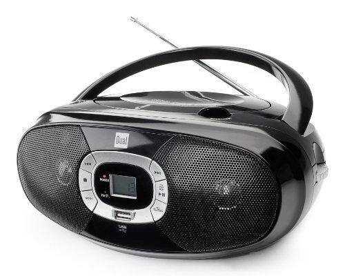 Dual P 390 - Radio cassette (USB, FM/AM), negro [importado]