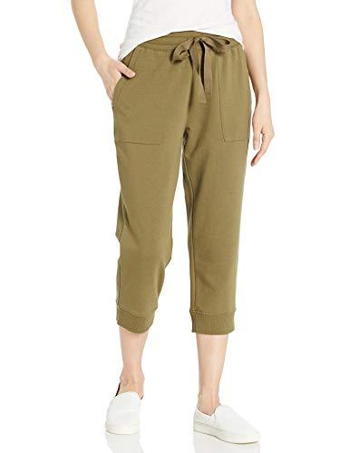 Daily Ritual Terry Cotton & Modal Crop Jogger pants, Surplus, US S (EU S - M)