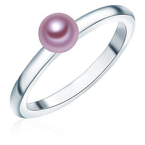 Valero Pearls - Anillo embellecido con Perlas de agua dulce - 925 Plata esterlina - Pearl Jewellery - complementos de mujer - En diferentes tamaños, Anillo de Plata esterlina - 60925030