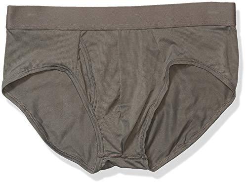 Goodthreads 3-Pack Lightweight Performance Knit Brief Briefs-Underwear, Gris Oscuro, L, Pack de 3
