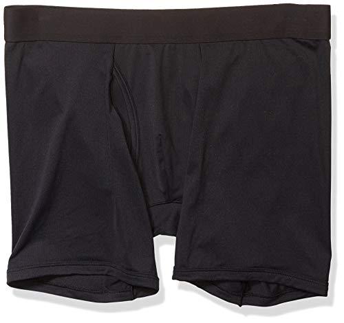 Goodthreads 3-Pack Lightweight Performance Knit Boxer Brief Briefs, Negro, XL