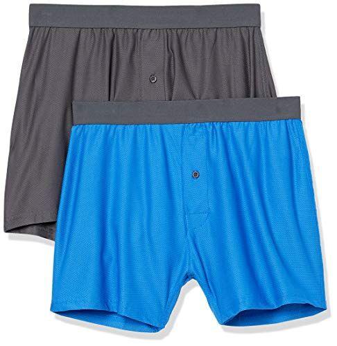 Amazon Essentials Pack de 2 bóxers Transpirables de Secado rápido. Boxer-Shorts, Azul, US L (EU L)