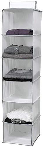 Compactor Estantería Colgante Flexible para Calzado Y Ropa, Non Woven 75G   Cedar, Blanco, 30 x 30 x 128 cm