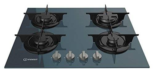 Indesit PR 642 /I(GR) hobs Grafito Integrado Encimera de gas - Placa (Grafito, Integrado, Encimera de gas, Vidrio, 1000 W, Alrededor)