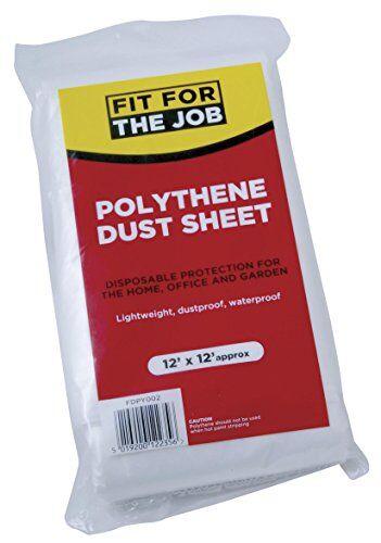 FFJ FDPY002 Película de polietileno de protección 3.6 x 3.6m, 12' x 12'