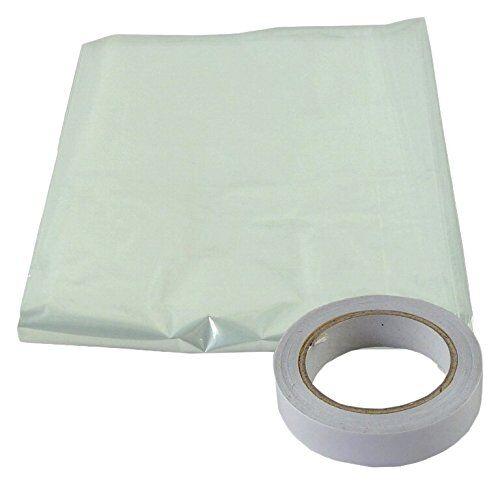 Bulk Hardware bh04947aislante acristalamiento de película se envía con cinta adhesiva de doble cara, 6x 1,5mblanco