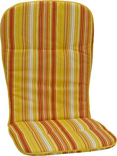 La silla de jardín beo cubre la cubierta de tuberías para sillas apilables altas, rayas, aproximadamente 96 x 44 x 2,5 cm, amarillo / naranja / blanco / multicolor