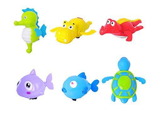 Dsaren Juguetes de Baño Bebé Linda Marino Animal Nadando Bañera Juguetes para Niños Agua la Divertida (6 Paquete)