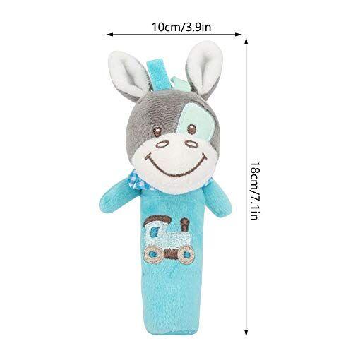 Zerodis- Juguete del bebé Sonajero, Cuna recién nacida Muñeca Suave Bebé Estilo Lindo Animal de la historieta Bebé Sonajero infantil de peluche de peluche para niños (Donkey)