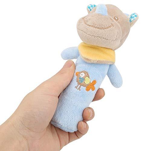 Zerodis- Juguete del bebé Sonajero, Cuna recién nacida Muñeca Suave Bebé Estilo Lindo Animal de la historieta Bebé Sonajero infantil de peluche de peluche para niños (Rhinoceros)