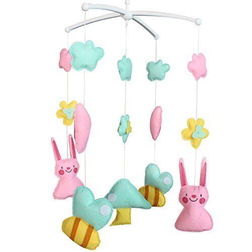 Dragon Los juguetes del pesebre del bebé, la campana móvil del pesebre del juguete musical del bebé mantienen la calma del bebé, tipo conejo, 03
