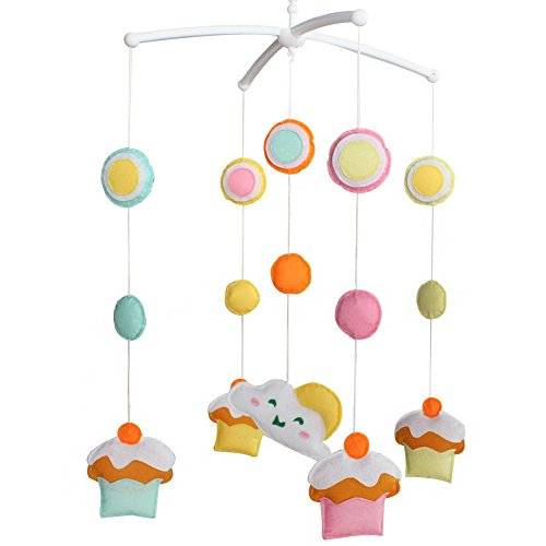 Dragon Los juguetes del pesebre del bebé, campana móvil del pesebre del juguete musical del bebé guardan la calma del bebé, tipo del helado