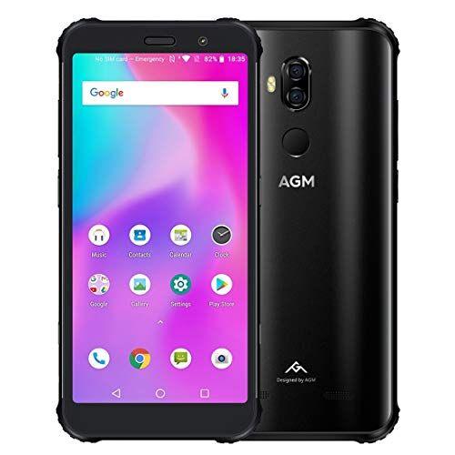GUPENG Teléfono Móvil Libres, X3 Robusto teléfono, a Prueba de Polvo Impermeable a Prueba de Golpes, y Face ID identificación de Huellas Dactilares, OTG, NFC (Negro 6 GB + 64 GB) (Color : Negro)
