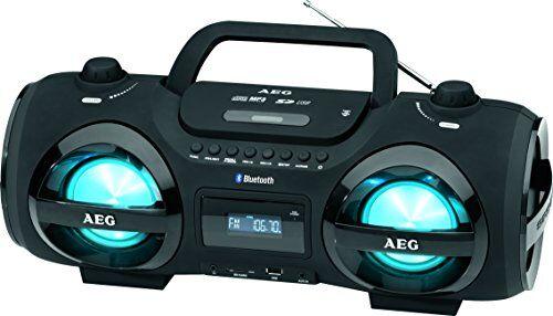 Electrolux AEG SR 4359 BT - Radio (pantalla LCD, Bluetooth, USB), color negro