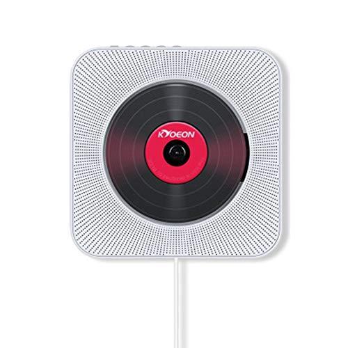 YUQQZ Reproductor de DVD CD portátil, Reproductor de música y películas Bluetooth con HDMI, Altavoces de Alta fidelidad, Radio FM USB MP3,Conector para Auriculares de 3.5 mm,Regalos para el hogar