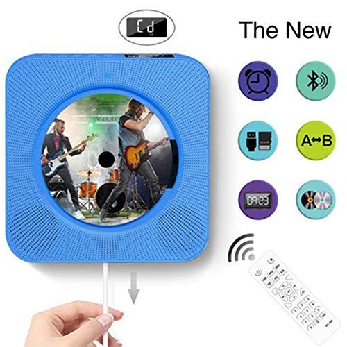 LUCKYFF Reproductor CD portátil, Reproductor de música y películas Bluetooth, Altavoces de Alta fidelidad, Radio FM USB MP3,Conector para Auriculares de 3.5 mm,Regalos para el hogar