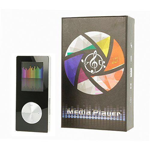 Electrónica Rey Reproductor MP4 Video Radio FM de 8GB (hasta 128GB), Media Player Negro y Plata, Electrónica Rey®