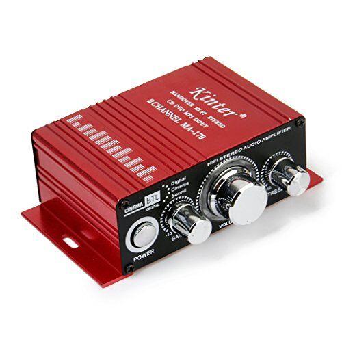 Desconocido Rojo De Mini Motos De Mp3 Del Coche De Alta Fidelidad Del Amplificador De Audio Estereo
