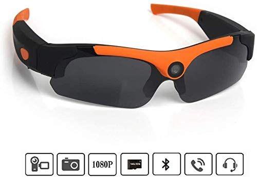 EASON Portátiles Bluetooth Gafas de Sol, Lentes 1080P cámara Mini DV, grabadora de vídeo Manos Libres Bluetooth for Auriculares de conducción oculares adecuados a Deportes/Ciclismo/Escalada, etc