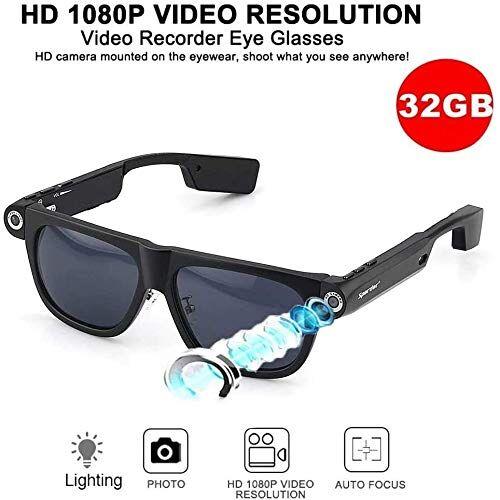 EASON Auricular Bluetooth Anti-UV Gafas de Sol del Deporte de Enfoque automático Vidrios polarizados con USB Oculta HD 1080P Grabador de vídeo y un recordatorio de navegación GPS (Size : 32g)