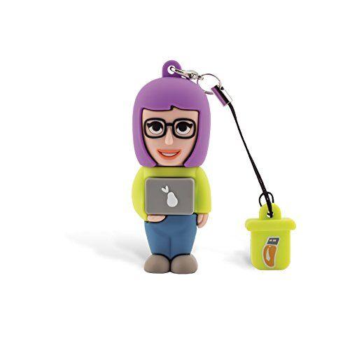 Professional USB Informático Mujer, simpatiche Memorias USB Flash Drive 2.0Memory Stick Almacenamiento de Datos, llavero, Pendrive 8GB