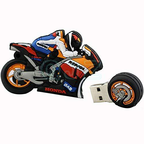 No. 01 BY Memorias USB Flash Drive Creativo Dibujos Animados Carreras De Motos Disco USB 2.0 U 4/8/16/32 / 64GB TransmisióN De Alta Velocidad 41 * 27 * 20 Mm PequeñO Y PortáTil Computadora Coche (16GB)