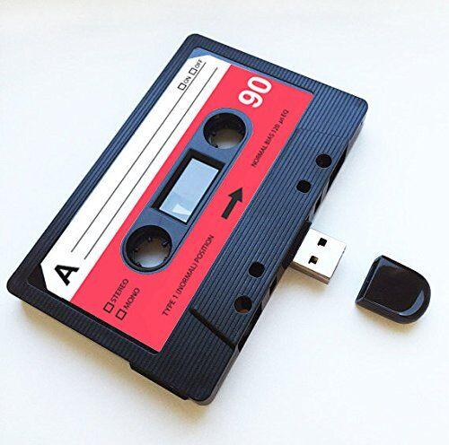 Blank Record Ltd USB, retro, regalo divertido, música, chulo, bonito, amor, regalo, novio, novia, 80s, 90s, informático, oficina, artilugio, novedad, cumpleaños, boda, aniversario, San Valentín, Navidad, regalos para ella, regalos para él, flash drive, subir canciones, fotos y vídeos. (8.0 GB)