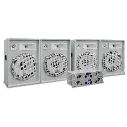 """Electronic-Star White Star Series """"Arctic Frost Pro"""" Set sonido profesional 3200W"""