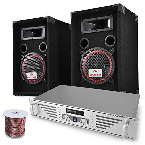 """Electronic-Star Set DJ PA """"Funky Breakbeats"""" con amplificador y altavoces"""