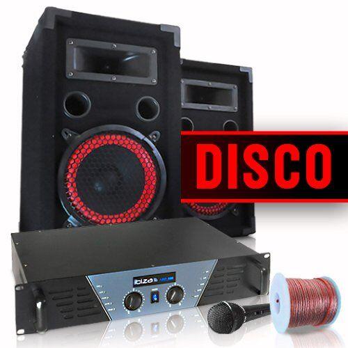Electronic-Star Equipo DJ y PA ''Disco'' amplificador altavoces micro