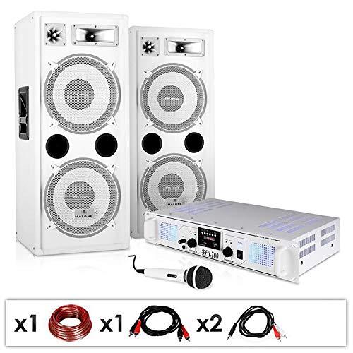 Electronic-Star Equipo PA DJ-22 - Altavoces, ampli, Micro, 1000W