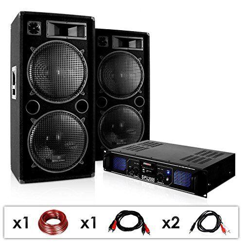 """Electronic-Star Sistema de sonido """"DJ-42"""" 3000W Altavoces Amplificador USB SD"""