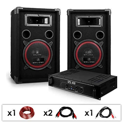Electronic-Star DJ 12 Set de Sonido Profesional Altavoces + Amplificador