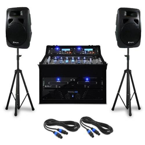 "Electronic-Star Set DJ PA ""Punch Line"" 1200W 300 personas USB SD"