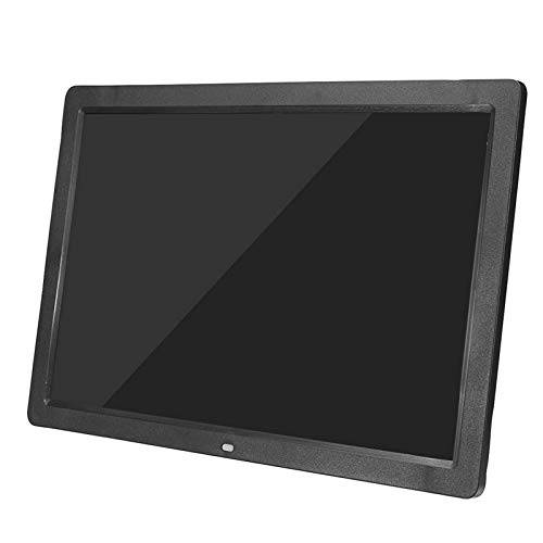 lisansang Marco de fotos digital17 pulgadas HD LED digital marco de fotos reloj reproductor de películas música con control remoto soporte tarjeta SD, USB