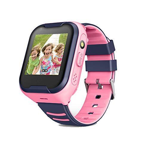Smartwatches 4G Niños Smart Watch Phone, La Musica niños de 3-12 años Niñas con cámara Ranura para Tarjeta SIM Juego de Pantalla táctil Childrens Gift,Pink