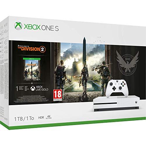 Microsoft Xbox One S 1TB Console - Tom Clancy's The Division 2 Bundle - Xbox One [Importacin inglesa]