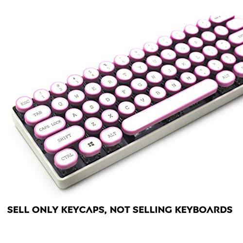 Sunzit Keycaps, 104 Key Retro Steam Punk Typewriter ANSI Layout Tapas de Teclas para Cherry MX Keycap PBT Backlight Teclado Mecánico para Juegos