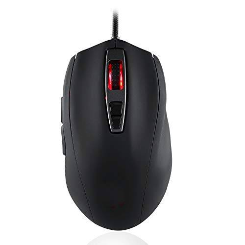 FGHFDX ratón Ratón óptico para Juegos conCable USB5000 PPP LED Light 7 Teclaspara periféricos informáticos Cuatro Colores para Elegir, Blanco