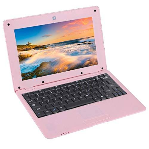No Ordenador portátil TDD-10.1 Netbook PC, 10.1 Pulgadas, 1 GB + 8 GB, Android 5.1 ATM7059 de Cuatro núcleos a 1,6 GHz, BT, Wi-Fi, HDMI, SD, RJ45 (Color : Pink)